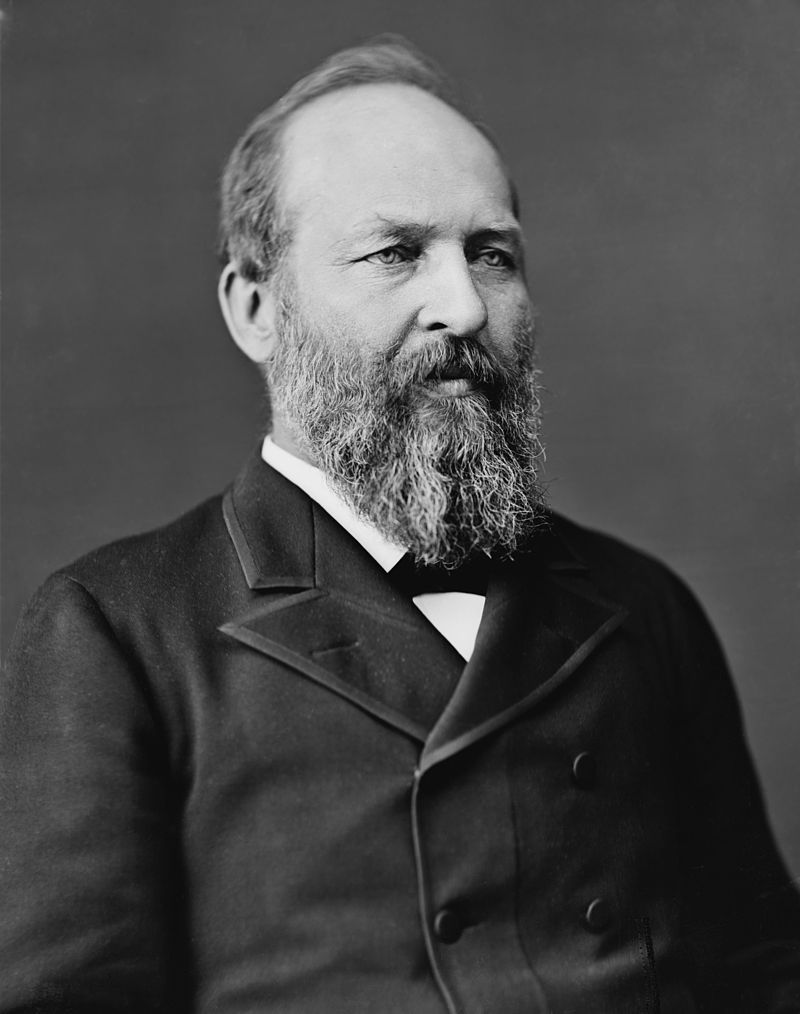 20th  US president James A. Garfield