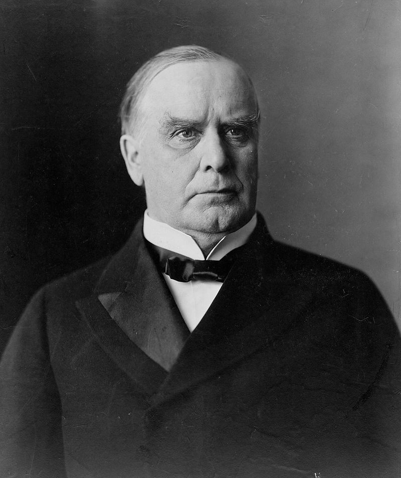 25th US president, William McKinley