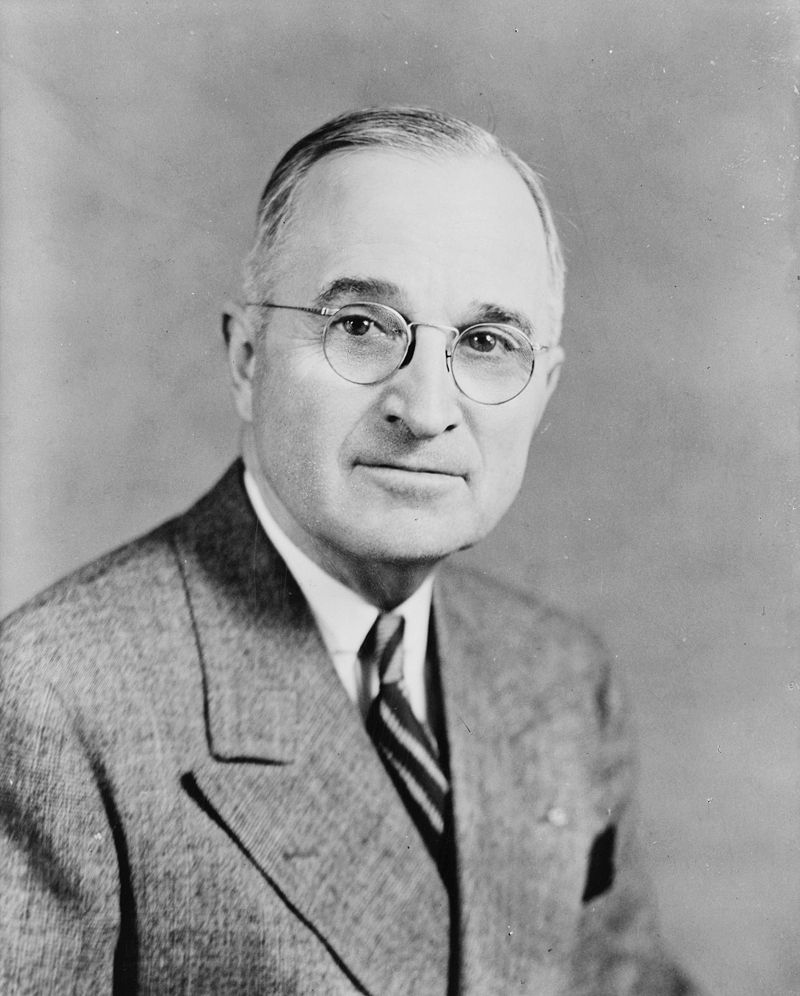 33rd US president, Harry S. Truman