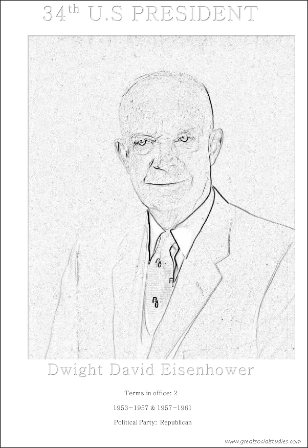 34th US President, Dwight David Eisenhower, person to color