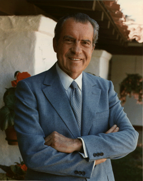 37th US president, Richard Milhous Nixon