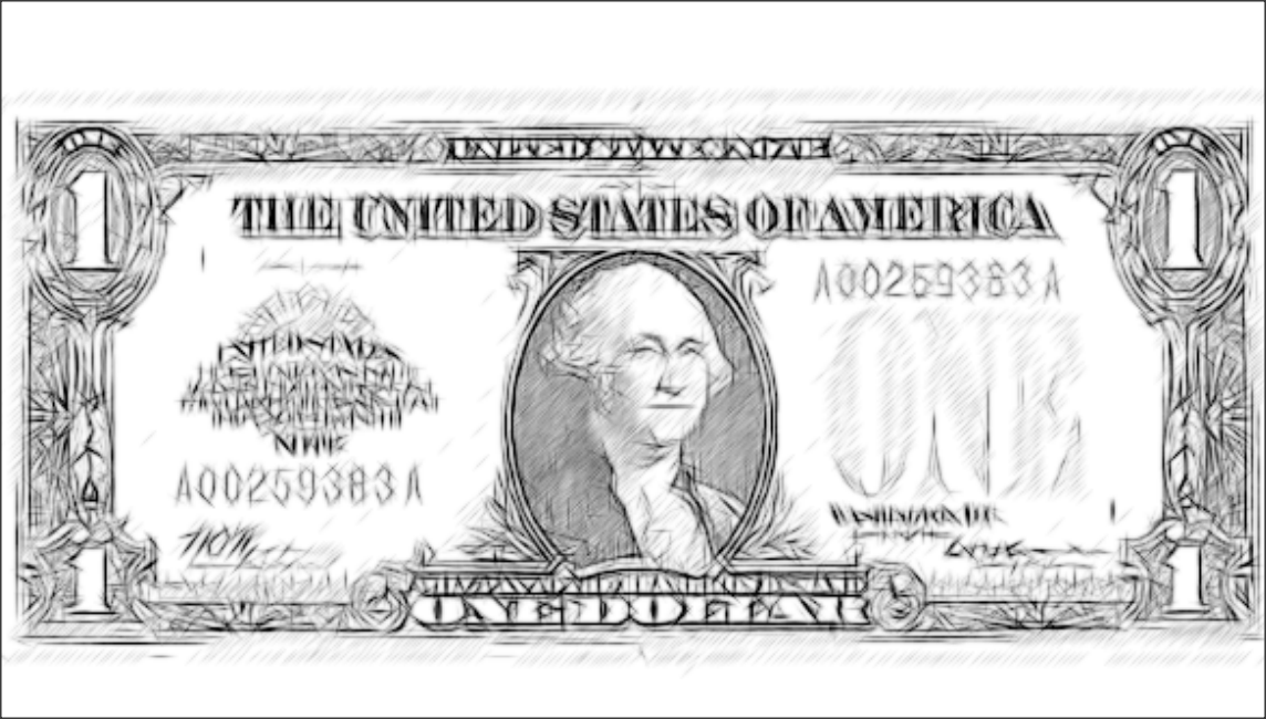 Coloring Page Dollar Bill Alltoys For