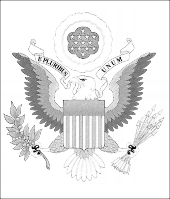 color sheets of US Government seal