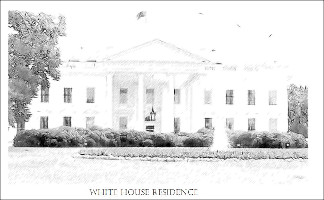 Color sheet of the white house residence