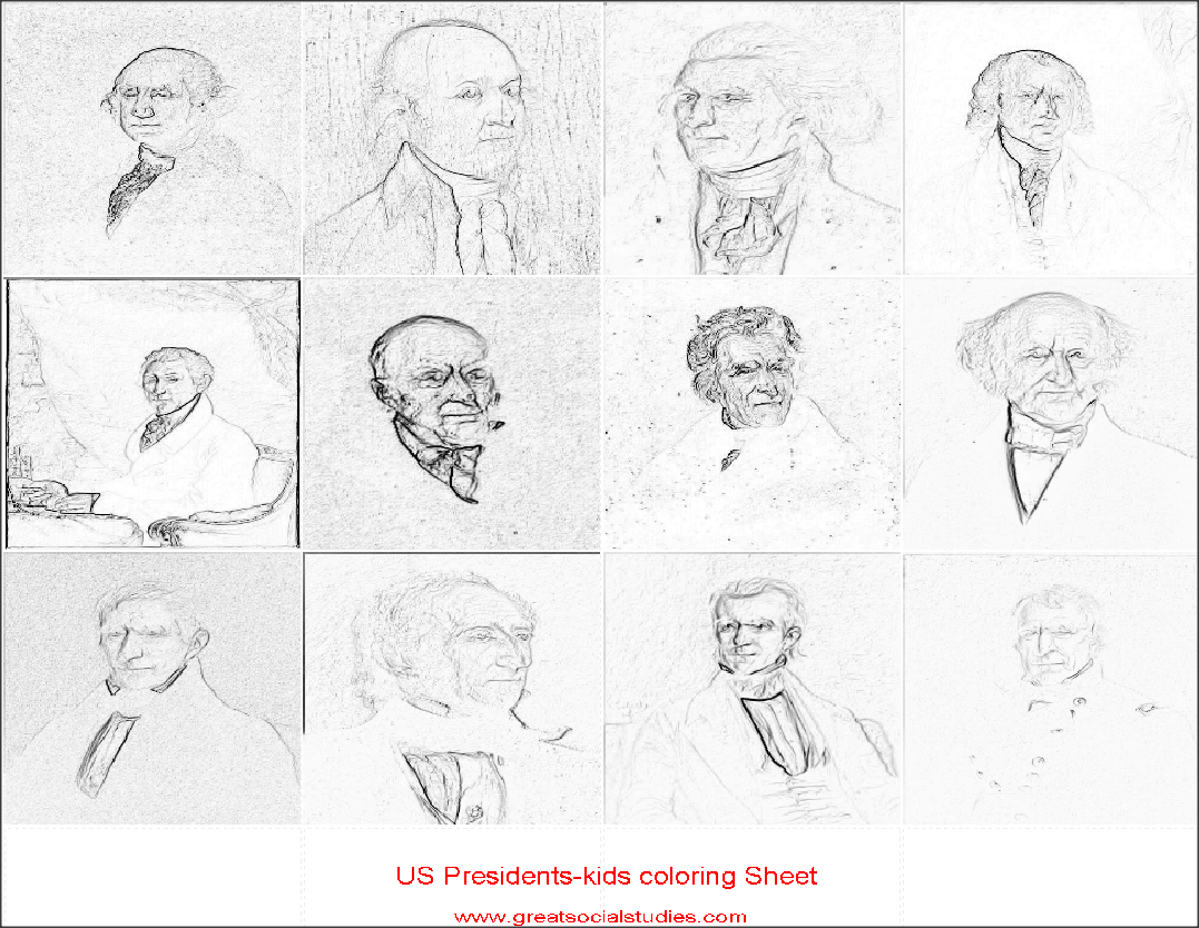 Coloring sheets for teens all us presidents print to color great